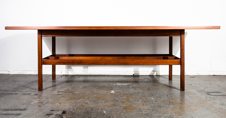 Mid Century Modern Conference Table Jens Risom Knoll Solid Walnut - Cheap modern conference table