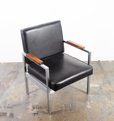 Mid Century Modern Lounge Chair Easy Armchair Arm InterRoyal Corp Metal Knoll VG Paws Black