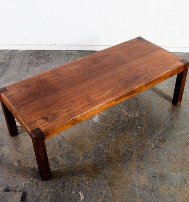 Mid Century Modern Coffee Table Solid Walnut Square Cube Baughman Coggin Parsons