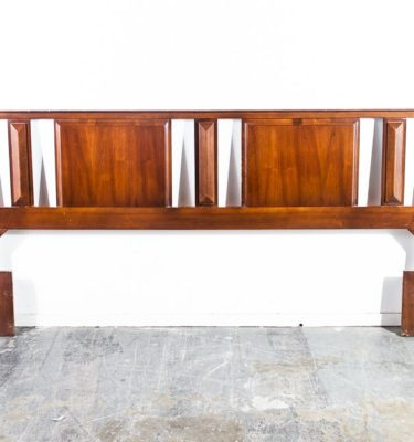 Mid Century Modern Headboard Bed Frame King Sz United Martinsville Vintage Large
