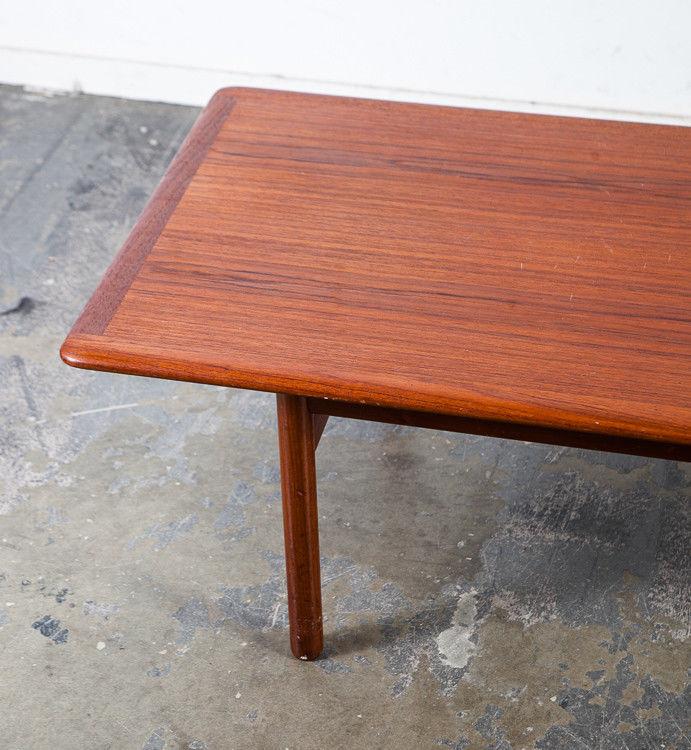 Vintage Mid Century Danish Modern Walnut Surfboard Coffee: Mid Century Danish Modern Coffee Table Solid Teak Dux