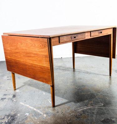 Mid Century Danish Modern Dining Table Teak Extension Borge Mogensen Leaf Beech