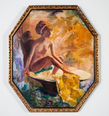 Mid Century Modern Nude Painting Art Artist Toby Willner Signed Original 32x38