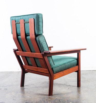 Mid Century Danish Modern Lounge Chair Solid Teak Borge Jensen Denmark Vintage M