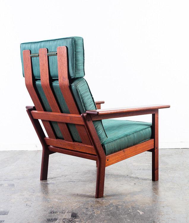 Mid Century Danish Modern Lounge Chair Solid Teak Mid Century