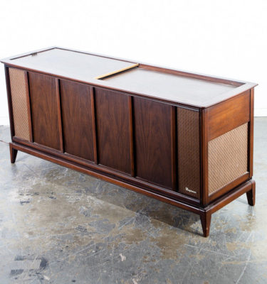 Mid Century Modern Stereo Console Record Player Radio Magnavox Working Hifi Mcm