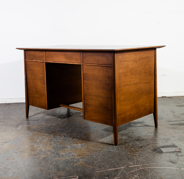Mid Century Modern Desk Office Henredon Walnut Large Vintage Executive Mcm Lane