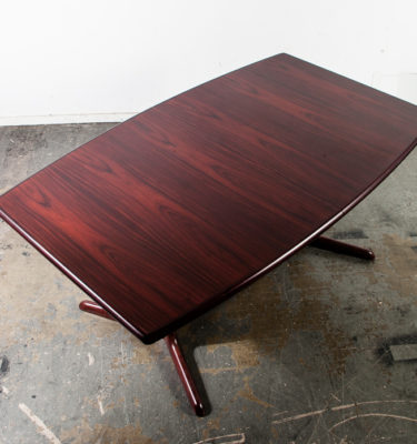 Mid Century Danish Modern Dining Table Rosewood Skovby Extension leaf x2 Denmark