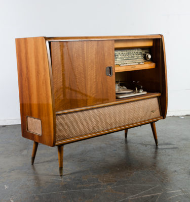Mid Century Modern Stereo Console Delmonico Korting Bar Tube Hifi Record Player