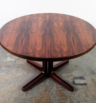Mid Century Danish Modern Dining Table Rosewood Moreddi Extension x2 Round NM