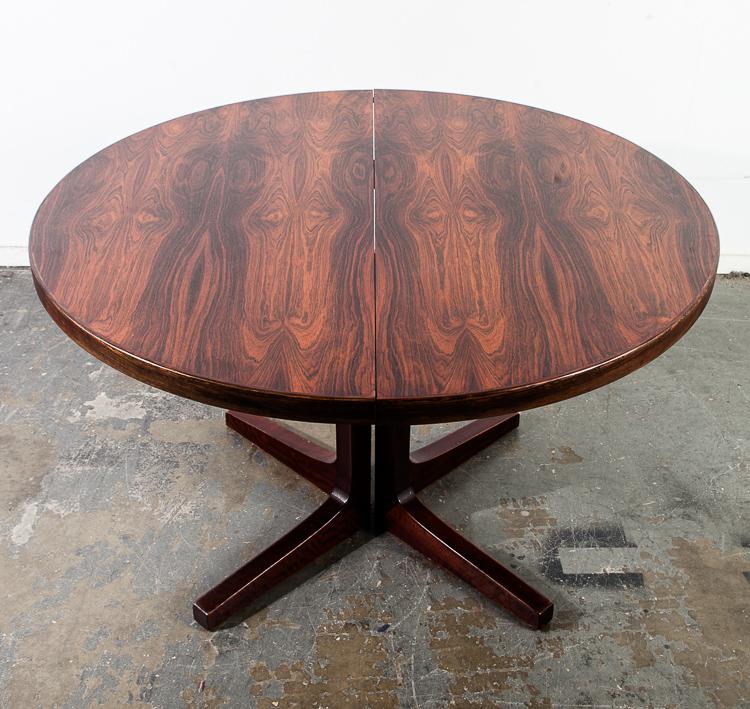 Mid Century Danish Modern Dining Table Rosewood Mid