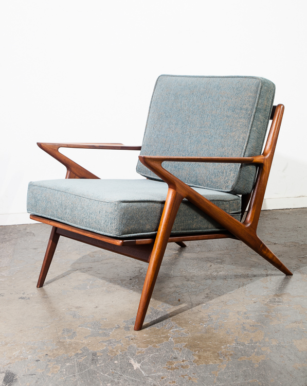 Mid Century Danish Modern Lounge Chair Set Teak Poul