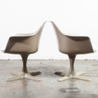 Antiques Mid Century Modern Chair Set Space Age Burke Propeller Pair Taupe Reupholstered
