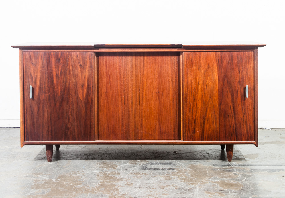 Danish Modern Credenza For Sale : Mid century modern credenza stereo console cabinet audio ace hi