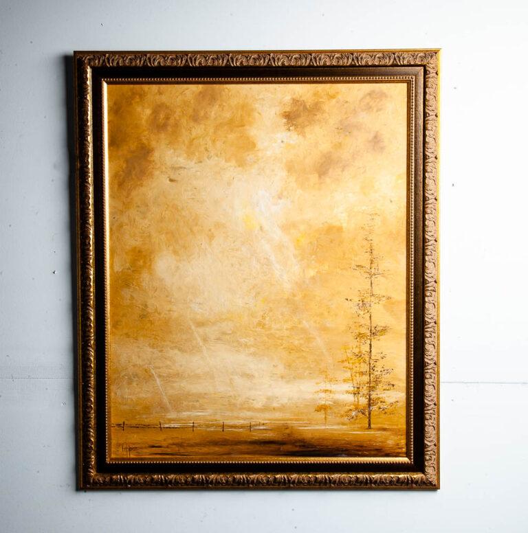 Vintage Robert Wood Mid Century Mt.Rainier Lithograph Art